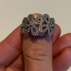 Lia Sophia Flower Ring w/ crystals